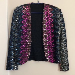 Vintage rainbow sequin jacket